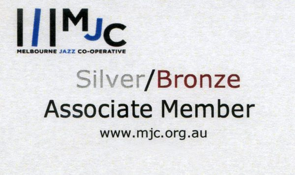 Melbourne Jazz Co-op Membership card