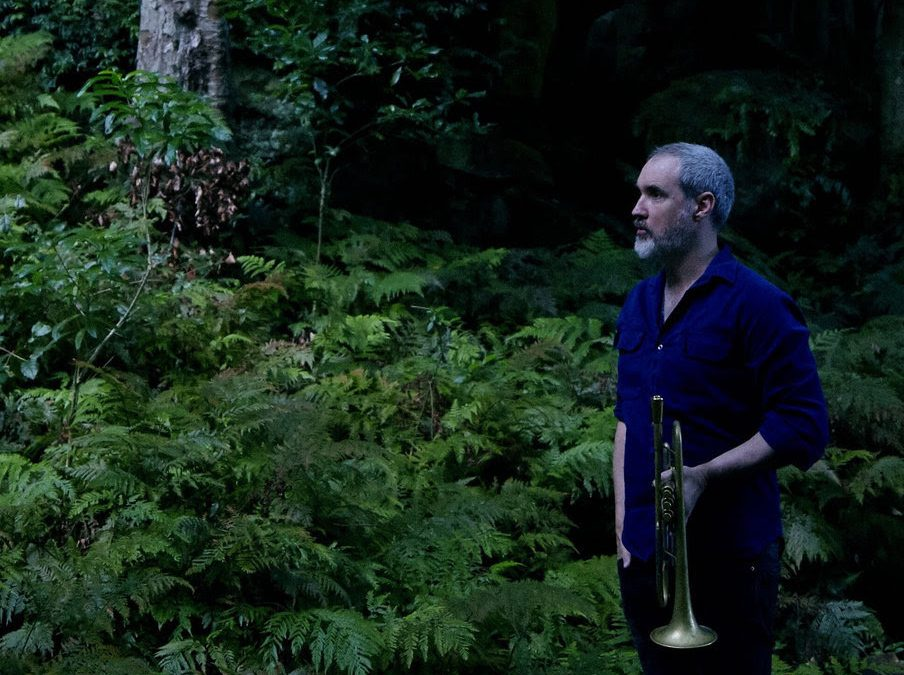 phil slater trumpeter in forest
