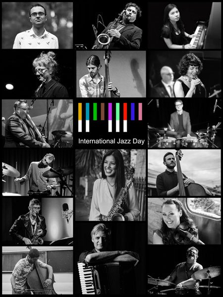 Collage poster for International Jazz Day 2021