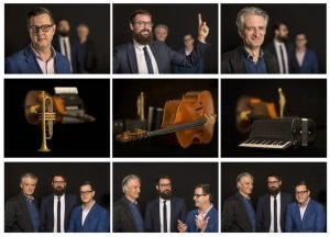 collage tryptics of photos of eugene ball ben hanlon and anthony shulz